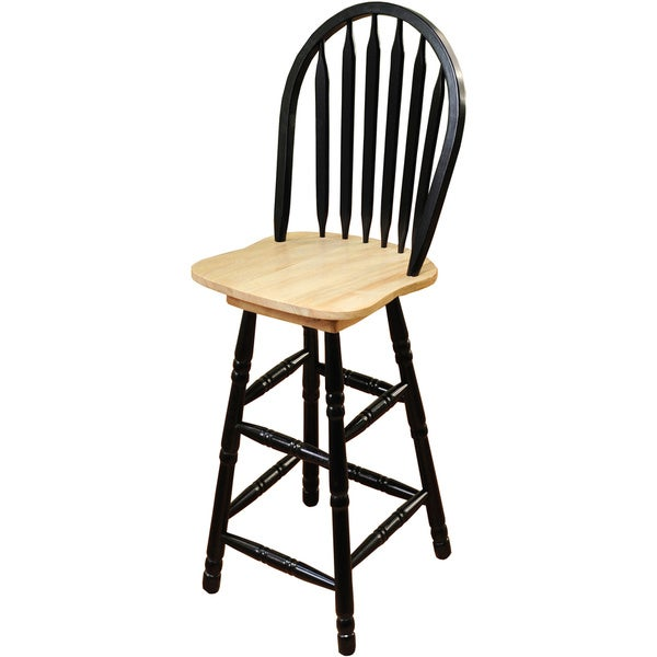 Simple Living Black Arrowback Swivel Bar Height Stool