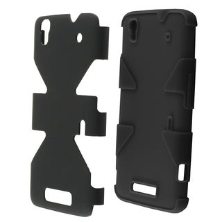 INSTEN Dynamic Soft Silicone Hybrid Hard Plastic Rubberized Matte Phone Case Cover For ZTE Max N9520