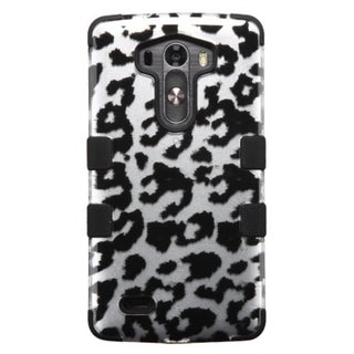 INSTEN Leopard Soft Silicone Hybrid Hard Plastic Rubberized Matte Phone Case Cover For LG G3