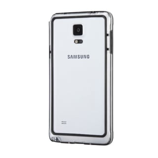 INSTEN TPU Hard Plastic Rubberized Matte Candy Skin Phone Bumper Frame For Samsung Galaxy Note 4