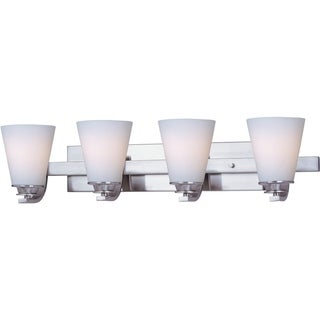 Maxim Conical Nickel 4-light Bath Vanity