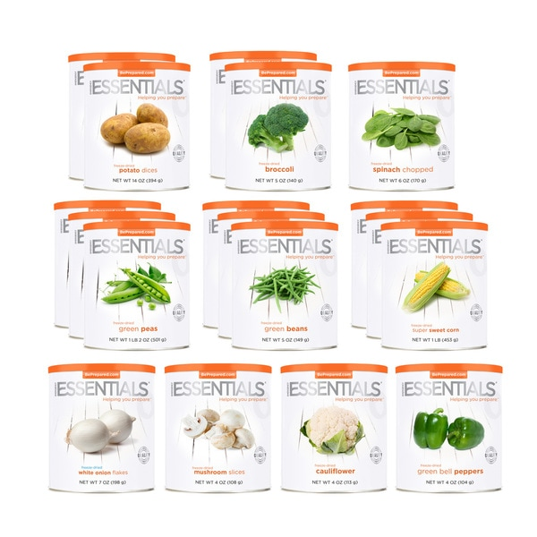 Emergency Essentials Freeze-dried Vegetables Deluxe Supply