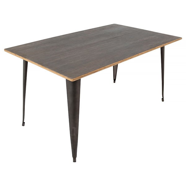 Oregon industrial 59 inch dining table 16950845 for 32 wide dining table