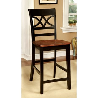 Furniture of America Betsy Joan Duo-Tone Counter Height Chair (Set of 2)