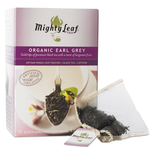 Mighty Leaf Tea Whole Leaf Tea Pouches, Organic Earl Grey (2 Packs of 15)