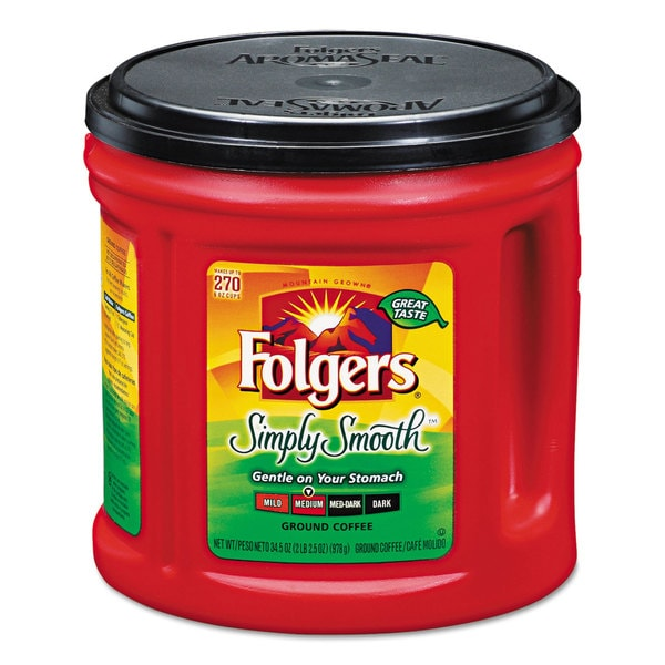 Folgers Coffee, 34.5 ounce Canister, Simply Smooth