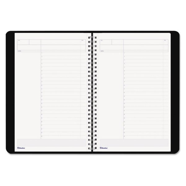 Blueline Duraflex Project Planner, 9 3/8 x 5 7/8, Black (Pack of 3)