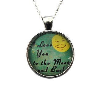 Atkinson Creations 'To The Moon' Glass Dome Pendant Necklace