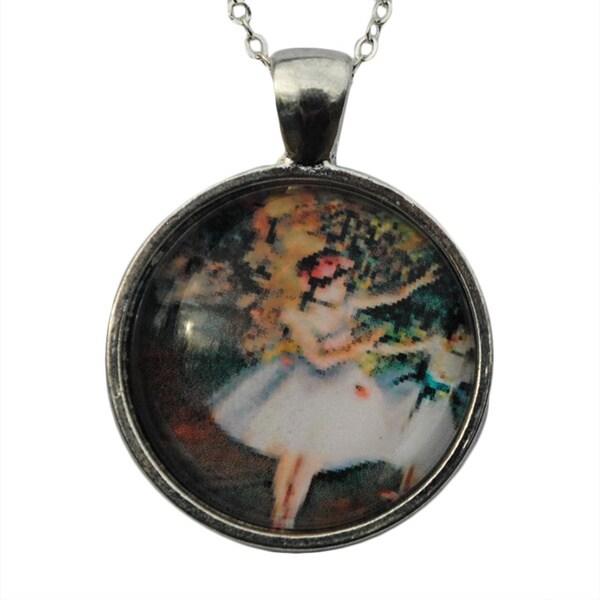 Atkinson Creations Ballerina Dreams Glass Dome Pendant Necklace