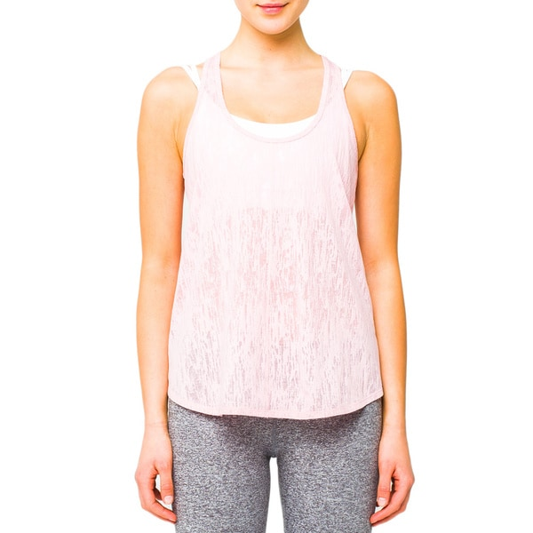 Lija Women's Pink Light Layering Tank Top