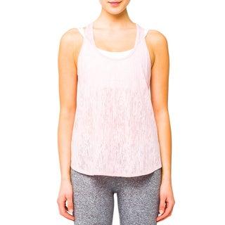 Lija Women's Pink Light Layering Tank Top