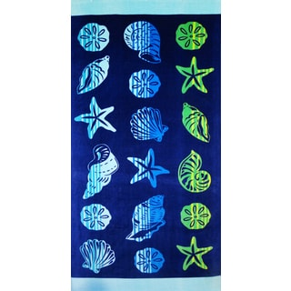 Baltic Linen Hombre Shell Aqua Beach Towel