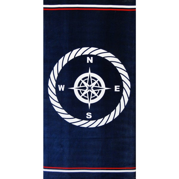 Baltic Linen Compass Navy Beach Towel