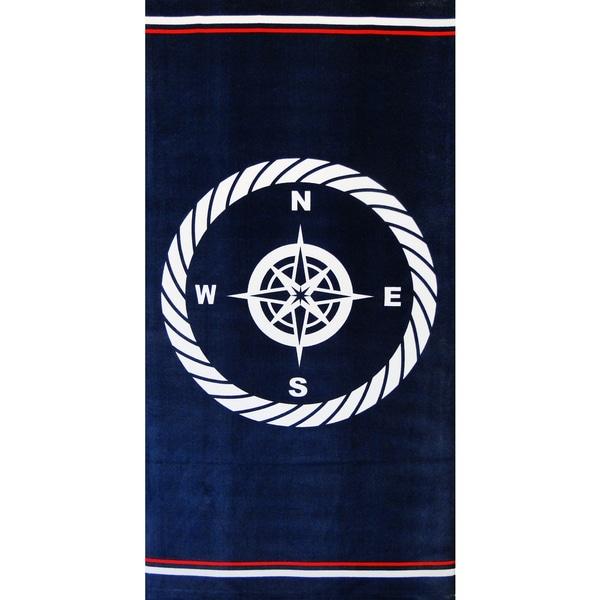 Baltic Linen Compass Navy Beach Towel