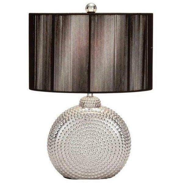 Ceramic Silver Table Lamp