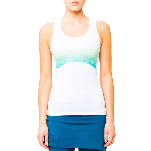 Lija White Zeal Printed Panel Tank