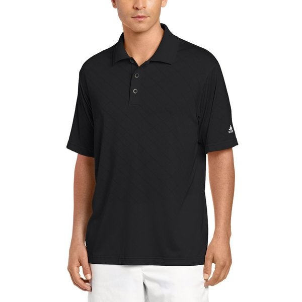 Men's Adidas Climacool Diagonal Textured Solid Polo Golf Shirt