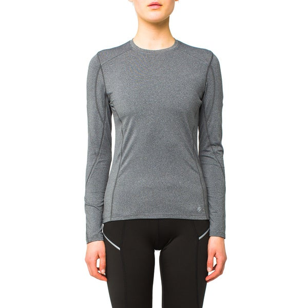 Lija Women's Charcoal Heather Longsleeve Base Layer Top