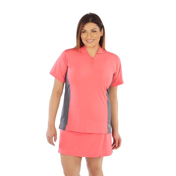 Live Life Large Women's Color Block Polo Shirt