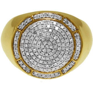 10k Yellow Gold 1/2ct TDW White Diamond Ring (G-H, I2-I3)