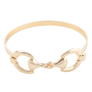 Journee Collection Brass Horse Bit Bangle