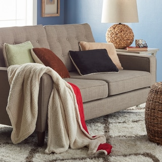 Micromink/ Sherpa Throw Blanket and Pillow