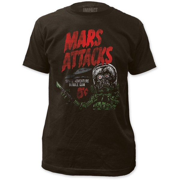 Mars Attacks Men's Space Adventure Martian Vintage Movie T-shirt