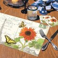Red Sunflower Postcard Paper Placemats (36-pack)