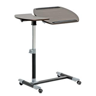 Baxton Studio Olsen Wood Wheeled Laptop Tray Table