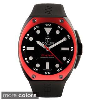 Avio Milano Men's Super Black Dial Black PVD Case Date Watch