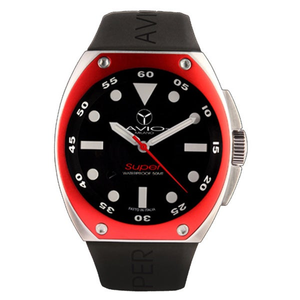 Avio Milano Men's Super Black Dial Date Watch