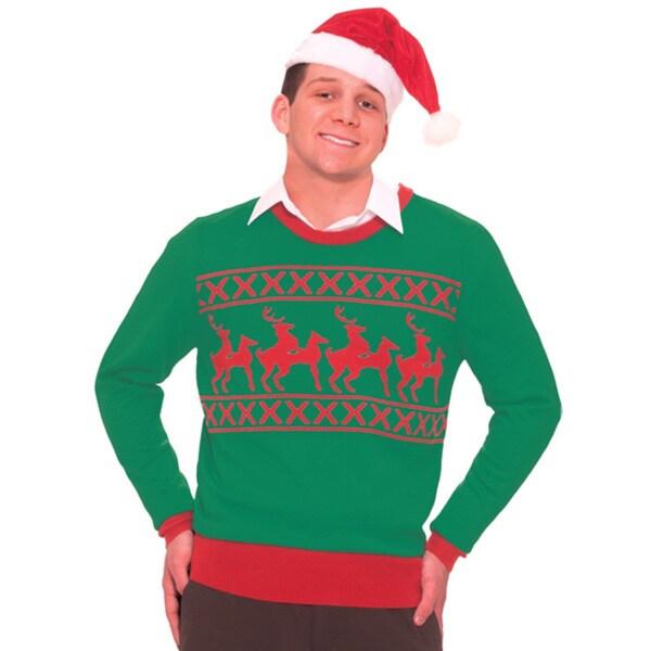 Adult Naughty Reindeer Sex Ugly Christmas Sweater