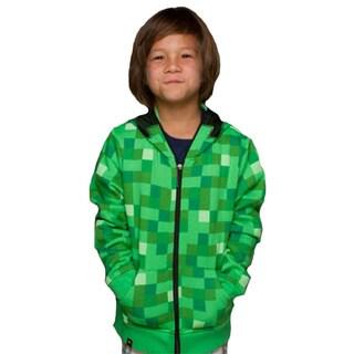 Kids' Minecraft Creeper Zip-up Hooded Sweatshirt