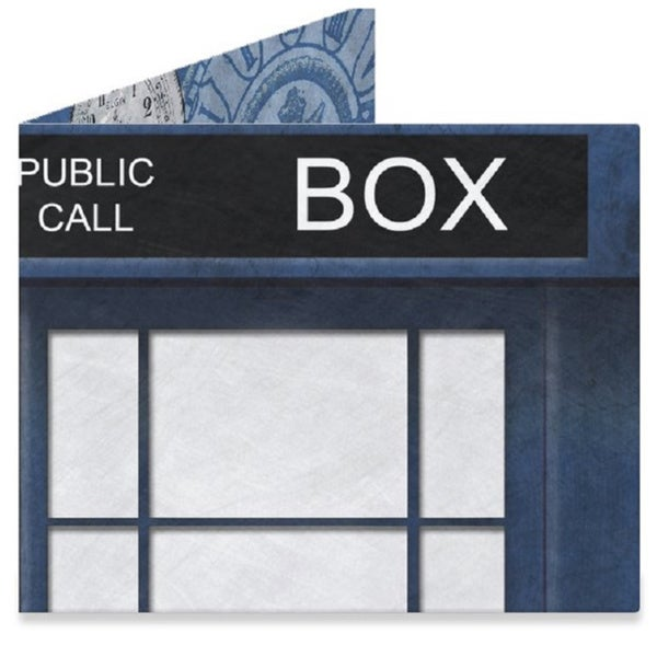 Doctor Who Blue Police Box The Original Tyvek Tardis Dr The Mighty Wallet