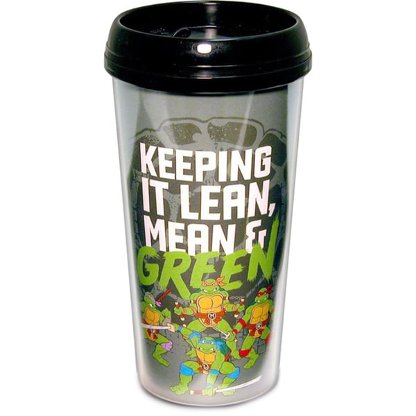Teenage Mutant Ninja Turtles 'Keeping It Lean, Mean, and Green' Travel Coffee Mug