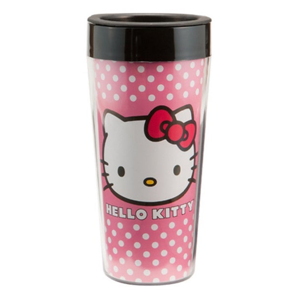 Hello Kitty Plastic Travel Coffee Mug