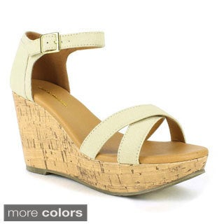 Mark and Maddux Women's Palo-05 Open-toe Low Wedge Sandal