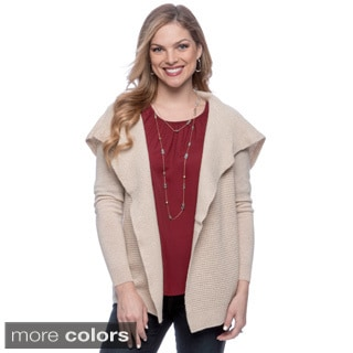 Ply Cashmere Women's Solid Long Sleeve Cardigan