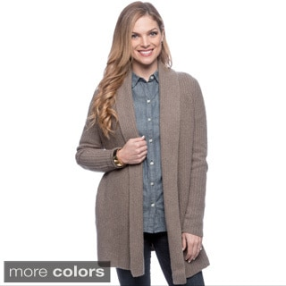 Ply Cashmere Women's Shawl Collar Cardigan