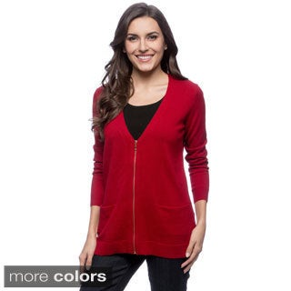 Ply Cashmere Long Sleeve V-neck Cardigan