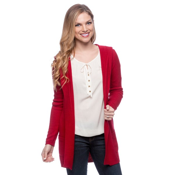 Ply Cashmere Women's Long Sleeve Hooded Cardigan