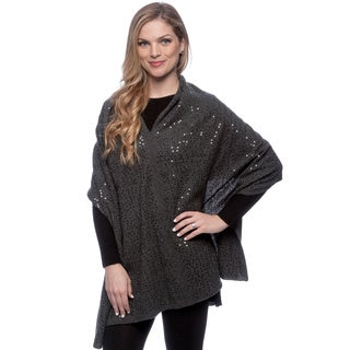 Ply Cashmere Women's Chalkboard Heather Sequined Shawl