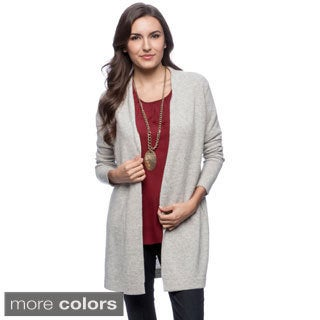 Ply Cashmere Women's Long Sleeve Open Cardigan