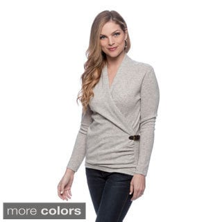 Ply Cashmere Women's Wrap-around Cardigan