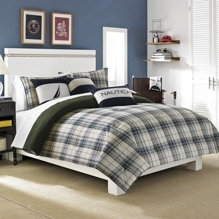 Nautica Blake Cotton 3-piece Duvet Cover Set