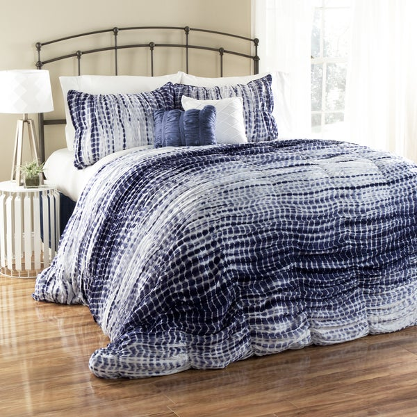 Lush Decor Pebble Creek Tie Dye 3-piece Duvet Cover Set (As Is Item)