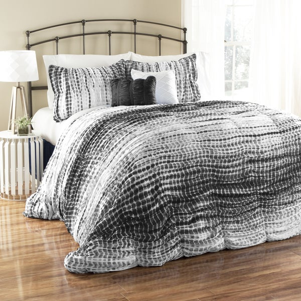 Lush Decor Pebble Creek Tie Dye 5-piece Comforter Set (As Is Item)