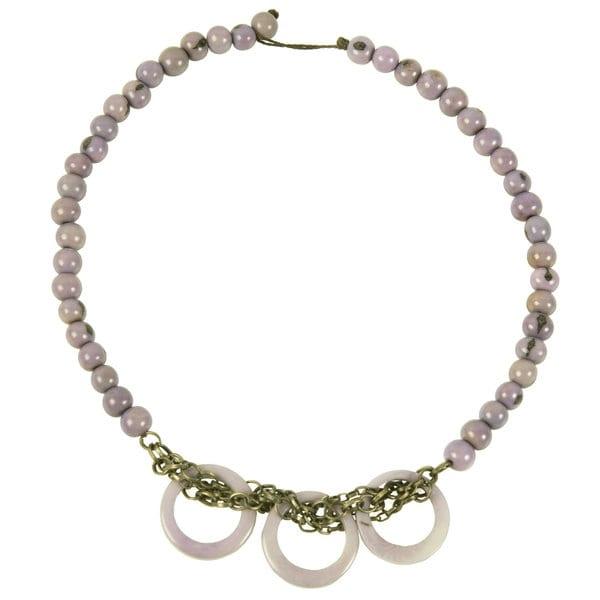 Lavender Circle Chain Choker (Ecuador)