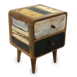 Reclaimed Teakwood 'Early Rusticity' Side Table (Indonesia)