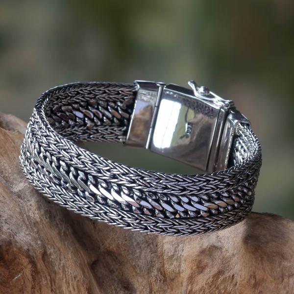 Sterling Silver 'Dragon Spirit' Bracelet (Indonesia)